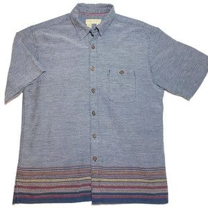 The Territory Ahead Woven Button Down Shirt Large
